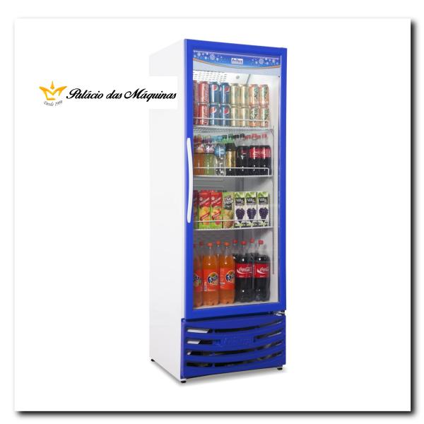 Geladeira Vertical 410 litros Frilux Azul Palacio das Máquinas Equipamentos para Estabelecimentos Comerciais