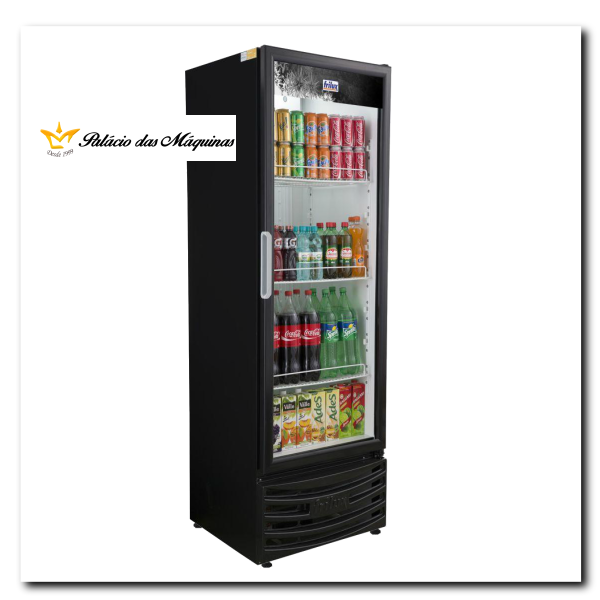 Geladeira Vertical 410 litros Frilux Preto Palacio das Máquinas Equipamentos para Estabelecimentos Comerciais