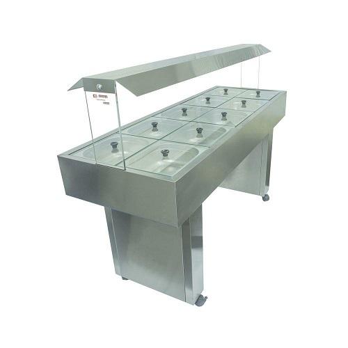 buffet self service quente termico 8 cubas Palacio das Máquinas Equipamentos para Estabelecimentos Comerciais