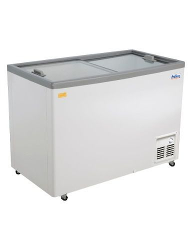 freezer horizontal- tampa vidro